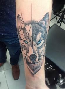 Tatouage Loup Graphique : tatouage tete de loup graphique ~ Mglfilm.com Idées de Décoration