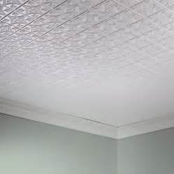 fasade ceiling tile 2x4 direct apply traditional 1 in gloss white