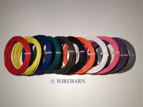 automotive wire 22 gauge high temp txl wire 11 colors