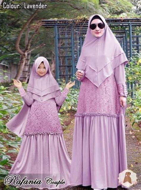 model gamis couple terbaru terbaik ibu anak keluarga polos