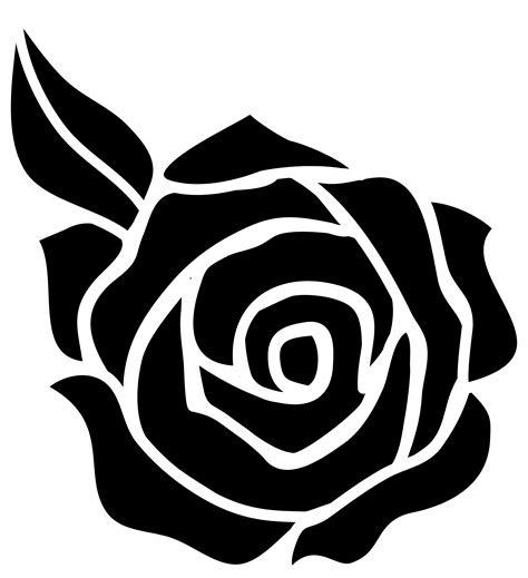 Black and White Rose Silhouette
