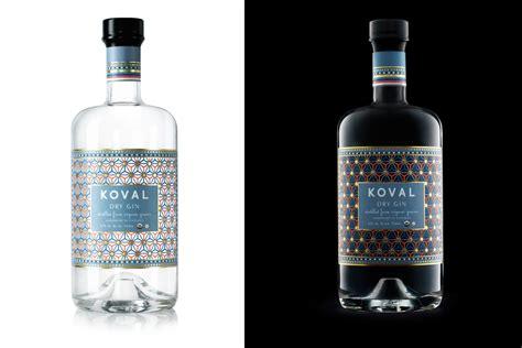 square glass jar koval gin the dieline packaging branding design