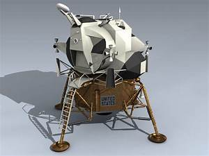 3d eagle lunar lander lem model