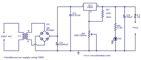 Variable Power Supply Using Circuit Diagram World