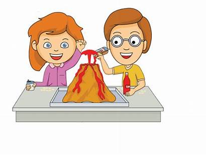 Science Student Clipart Project Volcano Animated Cartoon