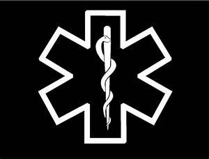 Medic Star of Life Symbol Decal EMT EMS medical car truck window sticker graphic | eBay