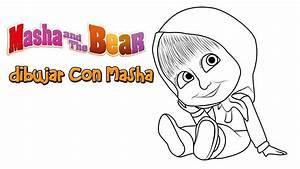 Como Dibujar Con Masha Y El Oso Caricaturas Lápiz Paso A Paso Fáciles dibujos para niños YouTube