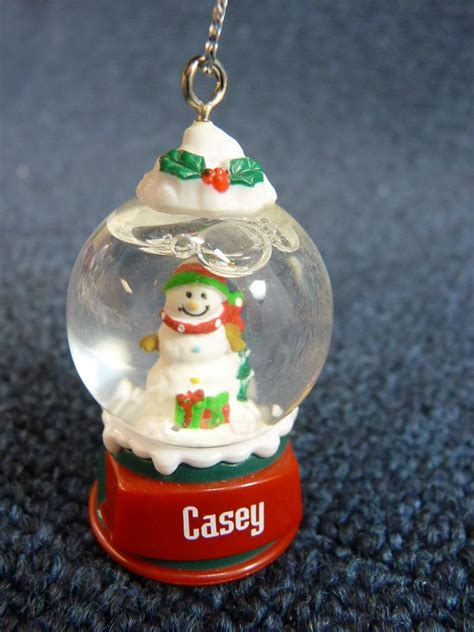 cute ganz personalized name snowman snow globe ornament a