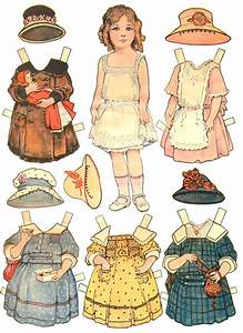 Paper Dolls and Paper doll Dresses - Printable from Kid Fun