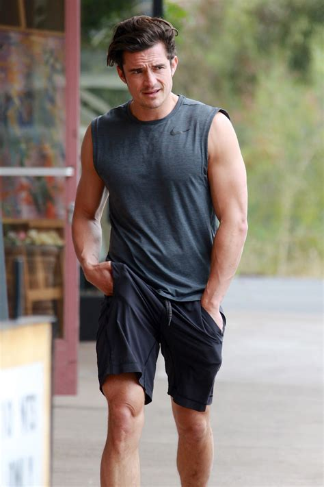 Orlando Bloom Does Some Heavy Lifting at the Gym
