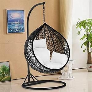 tinkertonk Garden Patio Rattan Swing Chair Wicker Hanging ...