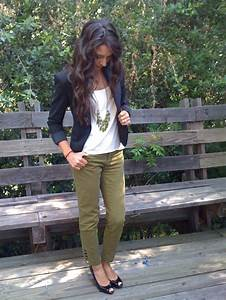 Best 20+ Dark green pants ideas on Pinterest | Colored skinny jeans Army green pants and Dark ...