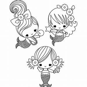 Stamping Bella '3 Little Mermaids Under The Sea' Unmounted ...