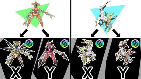 Mega Arceus X, Y ; Mega Deoxys X, Y