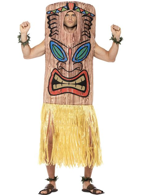 adults tiki totem pole costume  ladies fancy dress hub