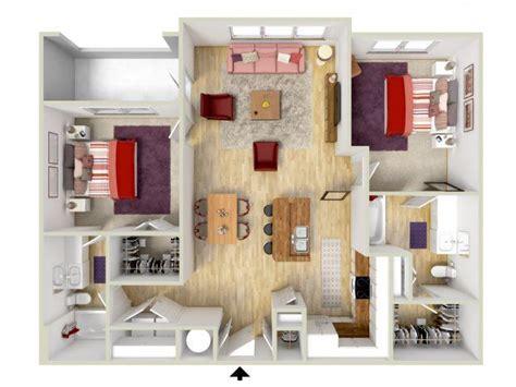 2 Bedroom  Veranda Floor Plan  3d Rendering  Brand New