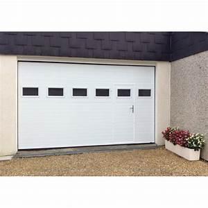 porte sectionnelle avec portillon pas cher prixporte With porte de garage enroulable avec cloture pvc pas cher