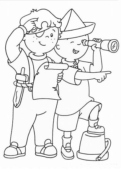 Coloring Caillou Pages Printable