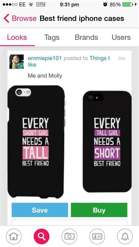 Amazon.com: BFF Phone Cases   Tall and Short Best Friend