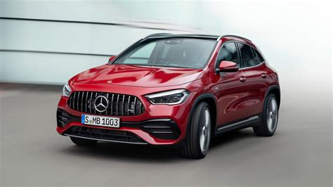 I had to go slow or it will spill over. 2021 Mercedes-AMG GLA 35 First Drive Review: AMG All the Things!?