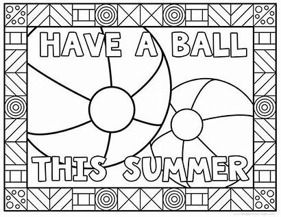 Coloring Pages Summer Sheets Students Kindergarten Printable