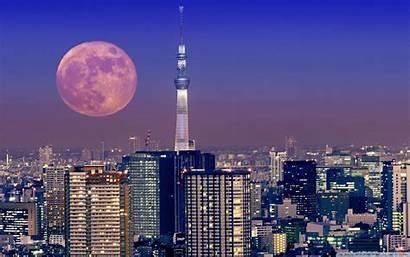 Japan Tokyo Moon 4k Desktop Wallpapers Background