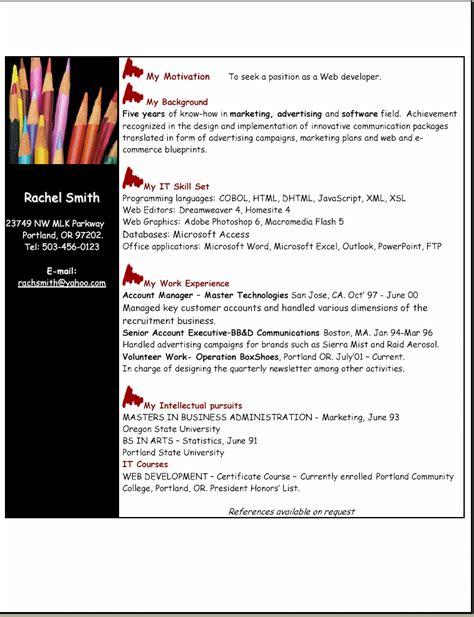 skill based resume sle web developer