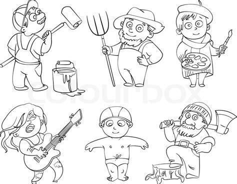 Professions. Builder, Painter, Rocker, Woodcutter, Swimmer