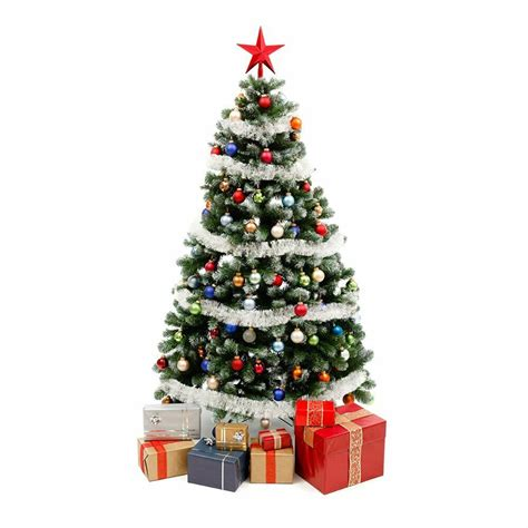 artificial christmas tree prelit  ft stand trees lights
