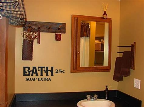 bath soap extra primitive bathroom decor vinyl wall art