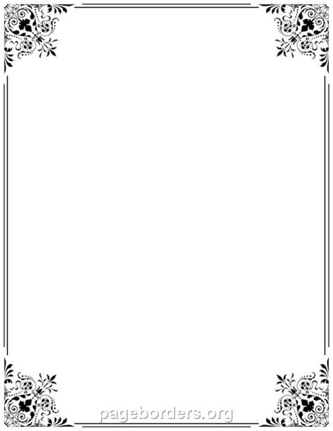 printable fancy border   border  microsoft word
