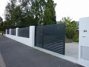 Cloture Maison Moderne : portails et portillons aluminium cl tures bois brande ~ Melissatoandfro.com Idées de Décoration