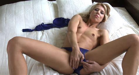 Letsdoeit Sensual Solo Blonde Cumming In Her Bed Porn F