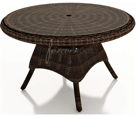 wicker forever patio leona 48 quot dining table with