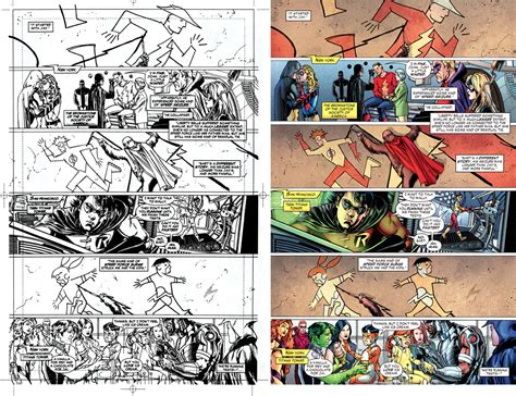 comic book page comic book coloring then and now
