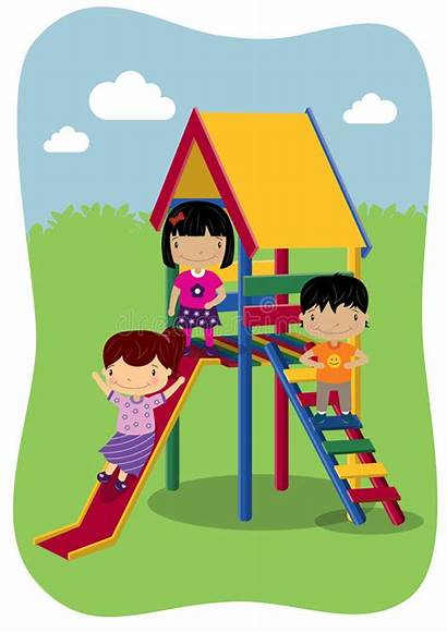 Play Outdoor Outside Playing Clipart Illustration Vector
