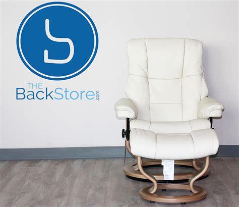 stressless mayfair light grey leather recliner