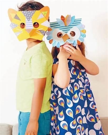 Animal Masks Paper Collage Mask Crafts Giochi