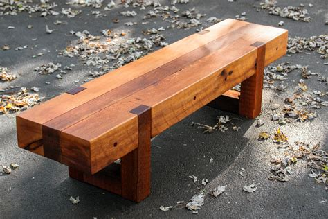 Wood Porch Bench - outdoor wood bench patio garden cedar bench
