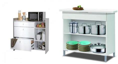 como escoger muebles auxiliares  la cocina