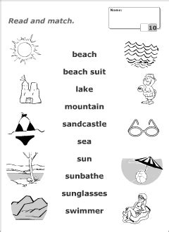 Summer Vocabulary For Kids Learning English  Printable Resources