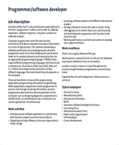 Software Developer Job Description | Images Of Computer Software Engineering Job Description Golfclub