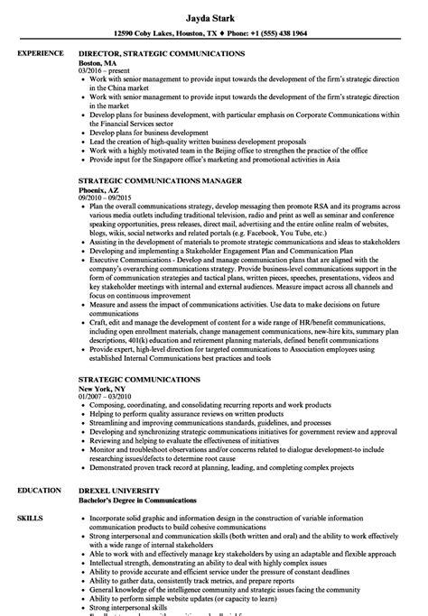 Communications Resume | TemplateDose.com