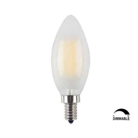 10 pack led e12 6w dimmable filament candle light bulb