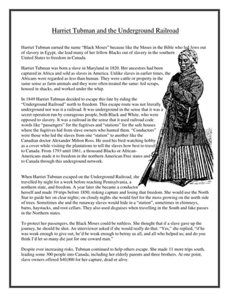 Harriet Tubman Word Search By  Uk Teaching Resources Tes