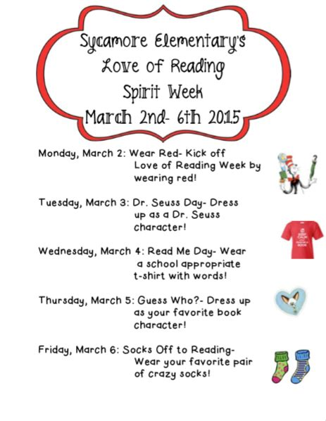love reading week sycamore elementary school