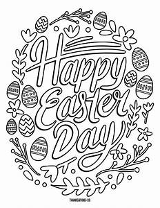 5 Free Printable Easter Coloring Pages For Adults That