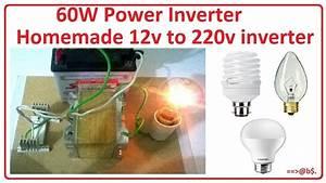 How To Make 12v To 220v And 60w Power Inverter Easy At