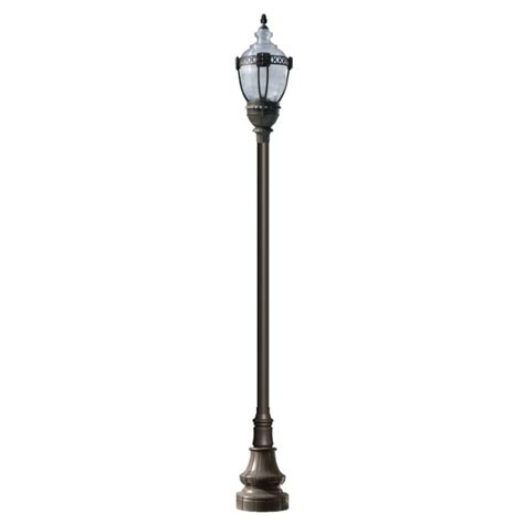 outdoor decorative pole lights high output hid vintage design l post with clear top