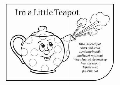 Teapot Lyrics Coloring Rhymes Ima English Songs